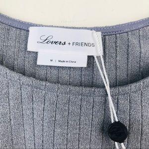 Lovers + Friends Tops - Lovers + Friends Clea Cropped Top in Light Grey
